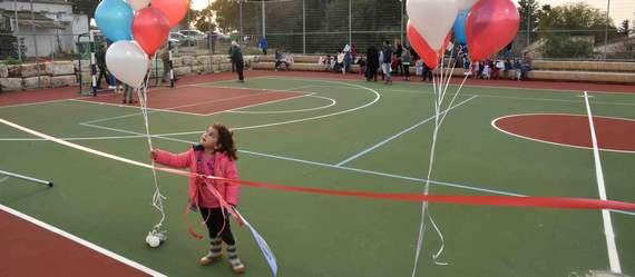 בכפר החורש נחנך מגרש ספורט רב תכליתי