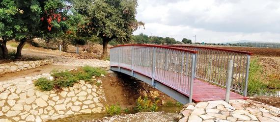 גשרון חדש מעל נחל ציפורי