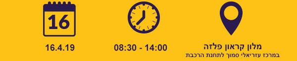 מלון קראון פלזה במרכז עזריאלי סמוך לתחנת הרכבת ב16.4.19 בין השעות 08:30-14:00