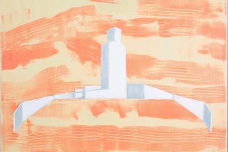 ציור מתוך התערוכה 'חיק האם הנעדר' - מוצגת בגלריית מירווח, הרדוף