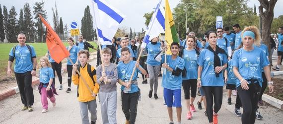 תושבי אחוזת ברק ותלמידי עמקים תבור השתתפו במירוץ הלפיד  לזכרה של טליה שואן