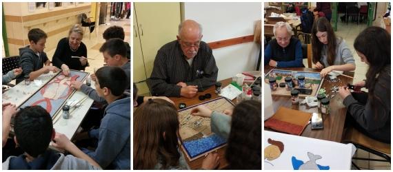 אמנות הפסיפס פרויקט בין דורי משותף לותיקי הסב יום ולתלמידי כיתה ח' מויצו נהלל
