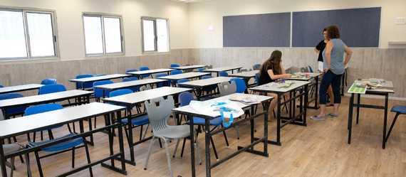 בתיכון העמק המערבי בקיבוץ יפעת חנכו את עבודות הבינוי המקיפות שנערכו בבית הספר