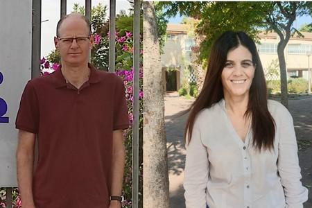 אושרת טל ואבנר גרוסר - מנהלים חדשים בשני בתי ספר יסודיים בעמק